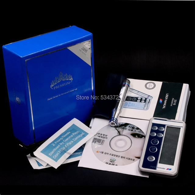 Professional Digital Permanent Makeup Machine Tattoo Eyebrow Lips Machine Kit With LCD Power Supply