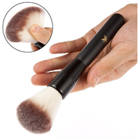 HUAMIANLI Brand Makeup Powder Brush Wood Handle Cosmetics Synthetic Foundation Makeup soft Brush Foundation Round Make Up Tool