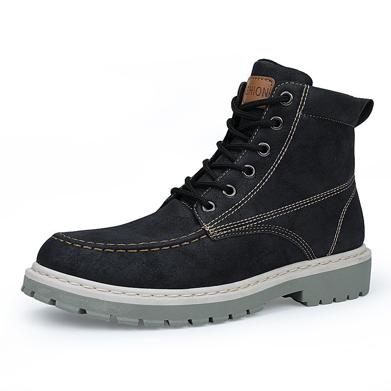 YEINSHAARS Boots Men Super Warm High Quality Winter Leather Shoes Leisure Skid Boots Retro Men Lace Up Sneaker Casual Shoes in Work Safety Boots from Shoes