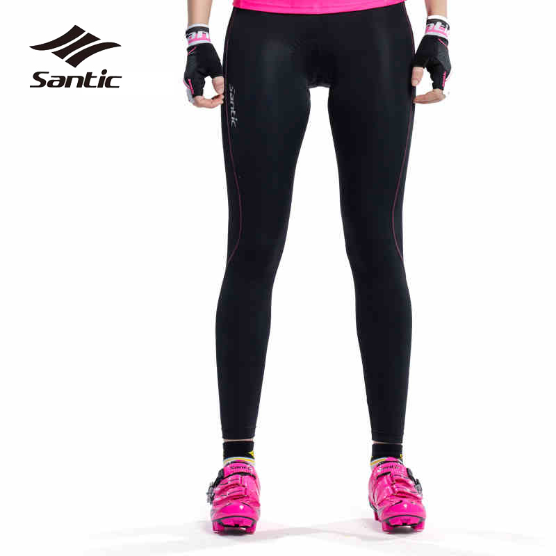 Santic Women Cycling Pants Summer Long Road Mountain Bike Tights 4D Padded MTB Pants Breathable Anti-UV Riding Trousers Wear women s cycling shorts cycling mountain bike cycling equipment female spring autumn breathable wicking silicone skirt