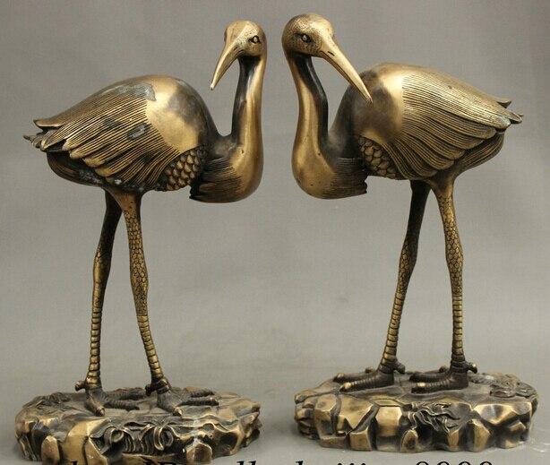 Scy Jp S0114 12 Quot Fengshui Chinese Bronze Longevity Birds 2