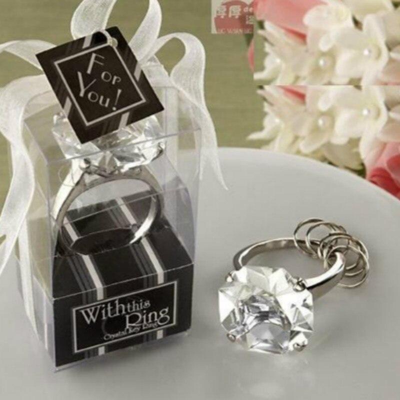 12 UNID Envío de bodas Anillo de diamante forma de llavero - Para fiestas y celebraciones - foto 2