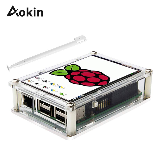 """Screen For Raspberry Pi 3.5"""" Touch Screen LCD Display Monitor with Transparent Protection Case For Raspberry Pi 3 2 Model B"""