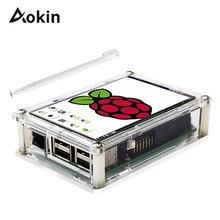 "Screen Voor Raspberry Pi 3.5 ""Touch Screen LCD Display Monitor met Transparante Bescherming Case Voor Raspberry Pi 3 2 model B"
