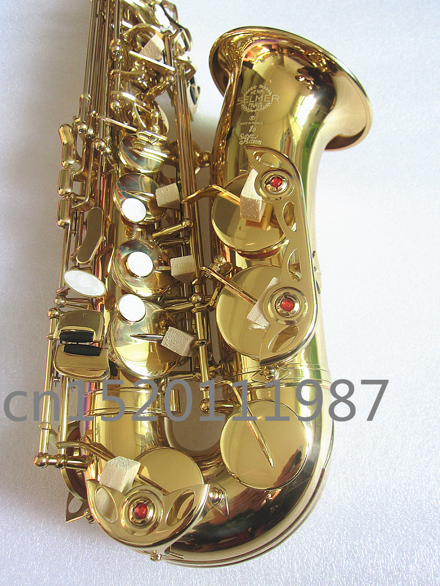 French Selmer 802 E Flat Alto Saxophone Musical Instrument Electrophoresis Gold