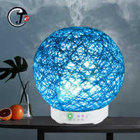 New Handmade Rattan Diffuser Aroma Air Humidifier Ultrasonic Essential Oil 7Color  Light Cool Mist Purifier umidificador de ar