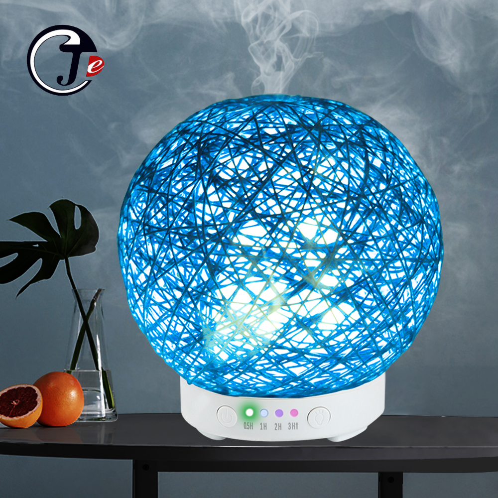 New Handmade Rattan Diffuser Aroma Air Humidifier Ultrasonic Essential Oil 7Color  Light Cool Mist Purifier umidificador de arNew Handmade Rattan Diffuser Aroma Air Humidifier Ultrasonic Essential Oil 7Color  Light Cool Mist Purifier umidificador de ar