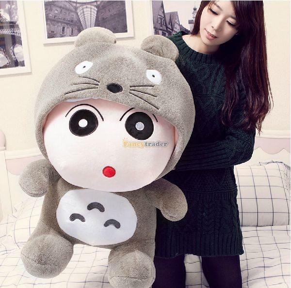 Fancytrader 31\'\' 78cm Giant  Funny Stuffed Soft Plush Totoro Crayon Shin-chan, Free Shipping FT50395 (1)