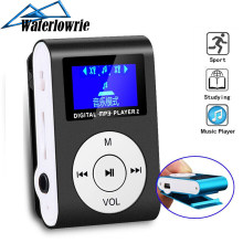 Mini Music odtwarzacz MP3 ekran LCD Walkman metalowy klips lecteur mp 3 wsparcie Micro TF/SD Slot przenośne odtwarzacze Sport mp3-player(China)