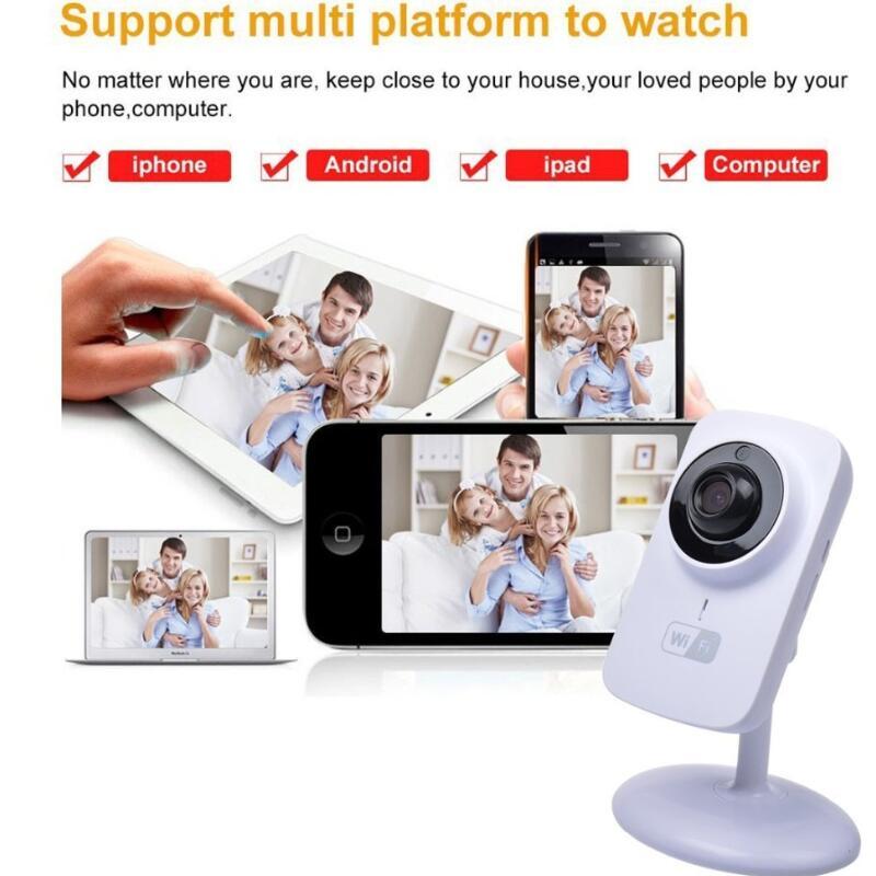 P2P Mini Senza Fili del IP di Wifi Della Macchina Fotografica Baby Monitor per la Casa di Sicurezza di sostegno di Visione Notturna di Sorveglianza Monitor V380-S1