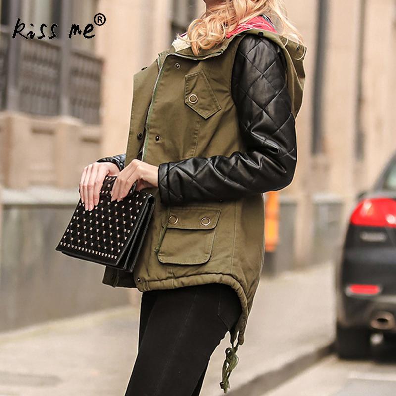 Manches Up Femmes Mince Veste Avec Pathwork Xl Manteaux À Dentelle Xxl Outwear Nouveau Longues Chapeau Hiver Desgin Épaissir Mode Parka De wIBdfxaqf