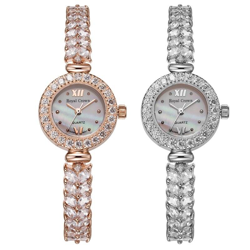 Royal Crown zegarek damski japonia Quartz godziny dzieła modna bransoletka zespół powłoki luksusowe dżetów prezent urodzinowy dla niej w Zegarki damskie od Zegarki na  Grupa 1