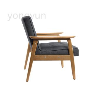 Salon fotel wypoczynku apartament moda proste z drewna bukowego krzesło kawowe projektant pościel pokrycie siedzenia krzesła tanie i dobre opinie Meble do salonu Salon krzesło Meble do domu Z litego drewna Rozrywka krzesło Nowoczesne Drewniane