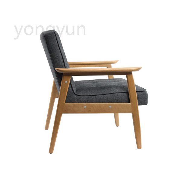The Sitting Room Lounge Chair Leisure Apartment Fashion Simple Beech Wood Coffee Designer Linen Seat Cover Chairs