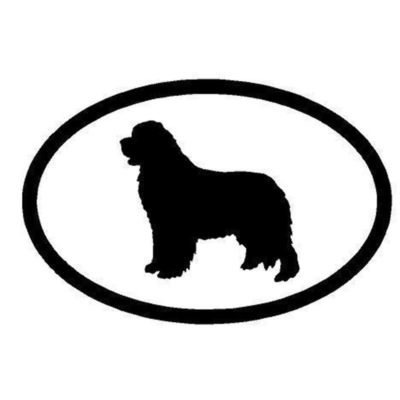 15.2*10CM Newfoundland Dog Car Stickers Creative Vinyl Decal Car Styling Bumper Decoration Black/Silver S1-0990