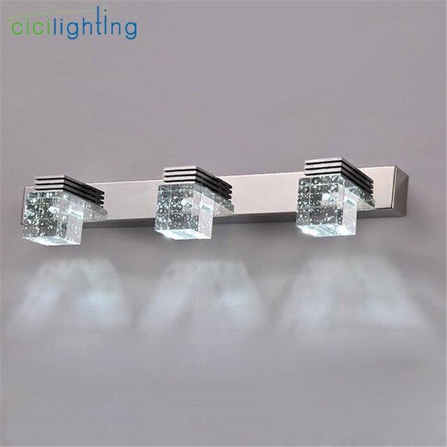 100 240v 9w 45cm Led Crystal Mirror Lights Clear Crystal Rain Drop