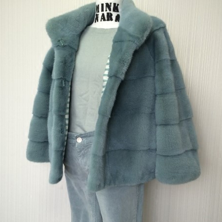 Arlenesain Custom Real Mink Fur Beautiful Women Coat  154