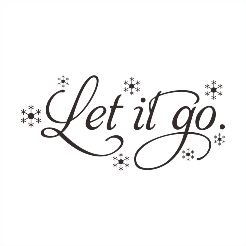 Let It Go Quotes Frozen Let It Go Snow Wall Decals Home Decoration Quote Wall