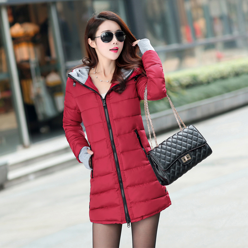 12 Colors Women Plus Size Female Hoodie Hooded Autumn Winter Long Sleeve Down Parka Slim Casual Quilted Chaquetas Jacket Coat 3