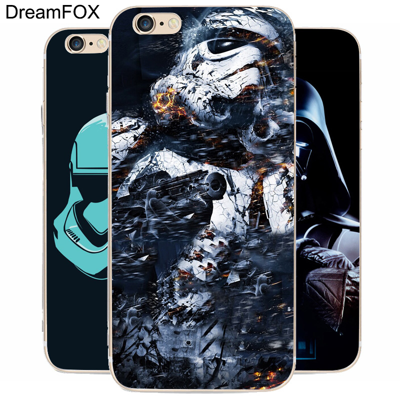 DREAM FOX K211 Star Wars Game Of Han Transparent Hard Thin Case Cover For Apple iPhone 8 X 7 6 6S Plus 5 5S SE 5C 4 4S