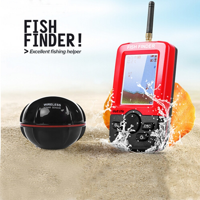 Détecteur de poisson LCD Lixada capteur sans fil alarme de poisson profondeur intelligente 100 M Sonar sans fil capteur écho sondeur pour lac mer Pesca