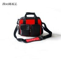 Hoomall Telecommunication Tool Bag Black Oxford Canvas Multifunction Large Broadband Repair Hitbag Strap Storage Bag
