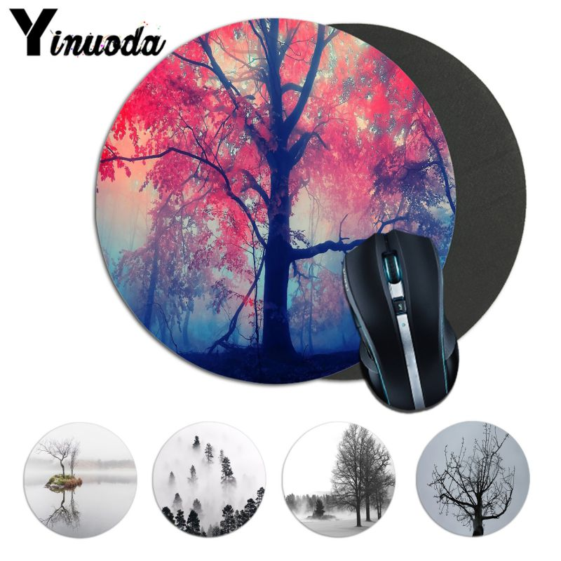 Yinuoda New Printed Misty Tree Soft Rubber Professional Gamer Mouse Pad Computer laptope Notbook Mousemat Gaming Mouse Pad