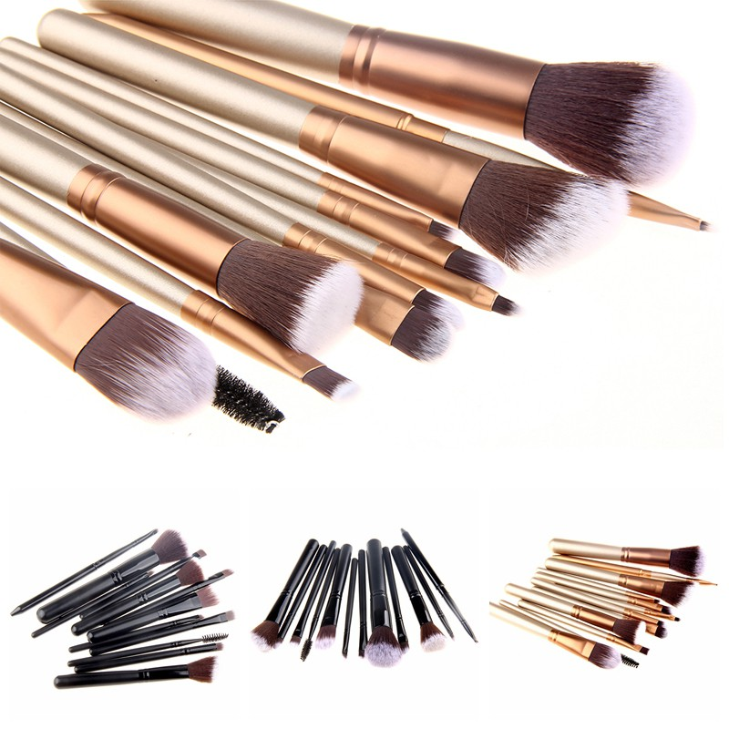 Makeup Brushes Maquiagem Naked Palette Powder Foundation Lip Kit Higlighter Eyeshadow Lipstick Pincel Maquiagem 12 Pcs Beauty new arrival woman brand cosmetic makeup set multi function make up naked palette eyeshadow palette