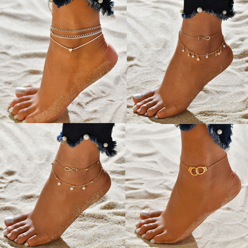 DDL Ankle Chain Pineapple Pendant Anklet Beaded 2019 Summer Beach Foot Jewelry Fashion Style Anklets for Women