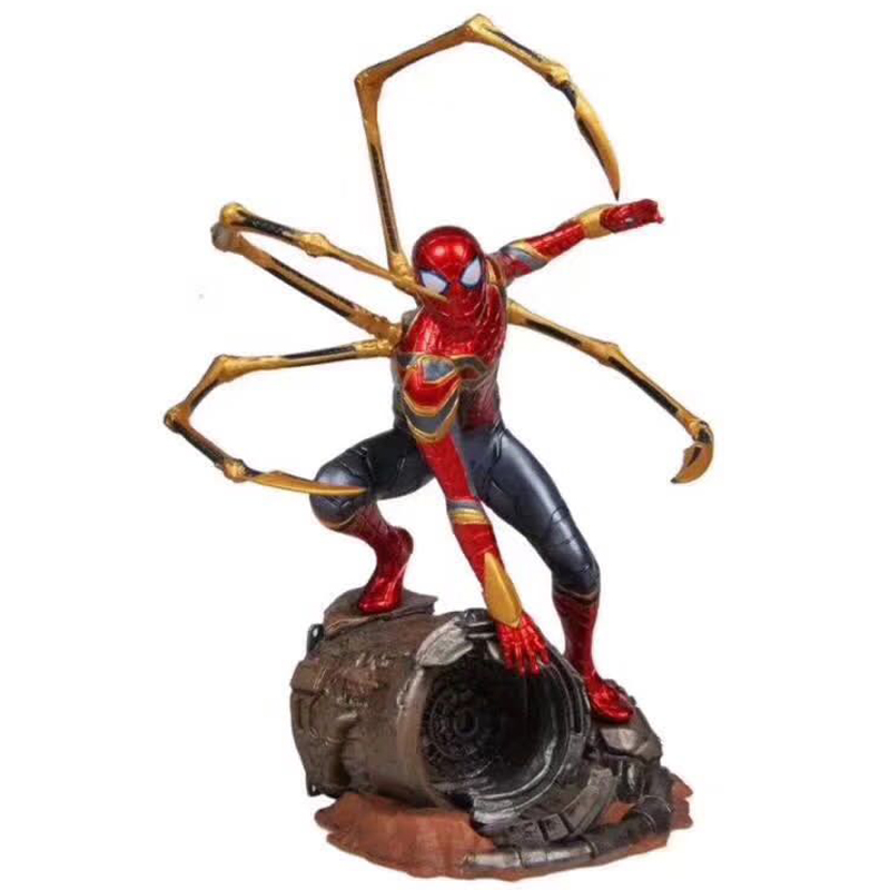 hot-toys-marvel-font-b-avengers-b-font-super-hero-spiderman-action-figures-pvc-spider-man-figure-collectible-model-toys-25cm