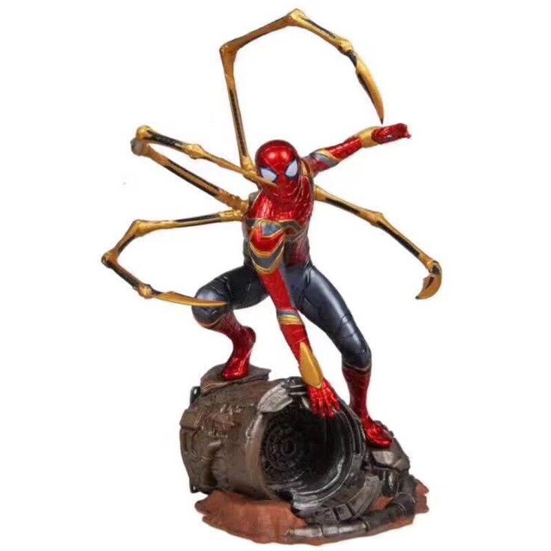 Jouets chauds Marvel Avengers Super héros Spiderman figurines d'action PVC Spider Man Figure de collection modèle jouets 25cm