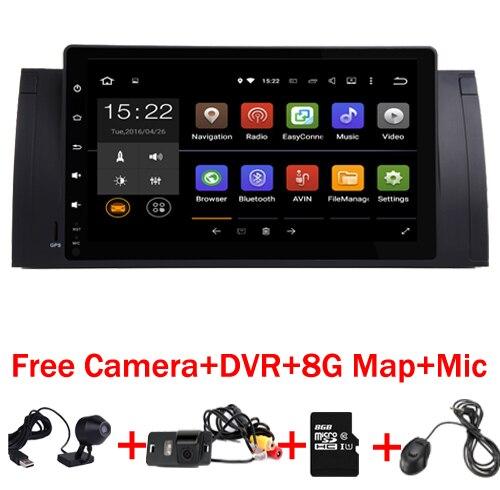 Android 7.1 2G ROM GPS Navi 9 entièrement Tactile Voiture DVD Multimédia pour BMW E53 X5 E39 5 97-06 avec Wifi 3G BT RDS Radio Peut bus DVR