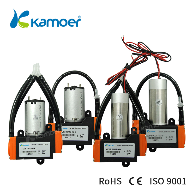 Kamoer KVP8 PLUS micro diaphragm vacuum pump with DC motor mini air pump 12V/24V with high nagative pressure/Vacuum degree (R) kamoer kvp8 24v mini vacuum pump brushless micro diaphragm pump electric air pump with high nagative pressure vacuum degree