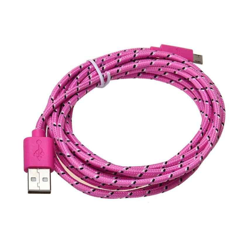 2 M cuerda de cáñamo cargador Micro USB Cable de datos de sincronización para teléfono móvil DROPSHIP Feb 5