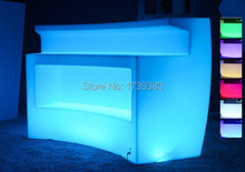 Rechargeable Multicolor LED Bright furniture,Corner Bar,LED Break  Bar Table,Remote control Luminous Counter