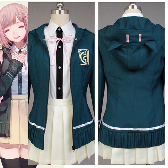 Anime Super DanganRonpa Chiaki Nanami Cosplay Costumes Full Set For Women Halloween Costume Custom Made