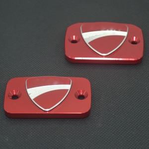 CNC алюминиевый тормозной цилиндр сцепления для мотоцикла, резервуар для топлива, крышка для Ducati Monster 695 696 S2R 800 795 796 759