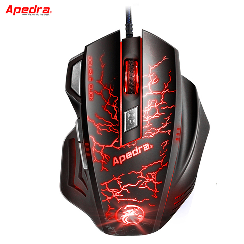 Professionell USB Wired Gaming Mouse 7Button Makrodefinition Optisk dator Musspelare Möss för bärbar dator LOL CSGO Dota