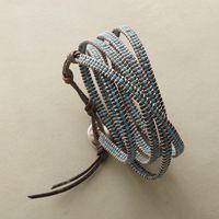 Een layer rocailles draad armband leer