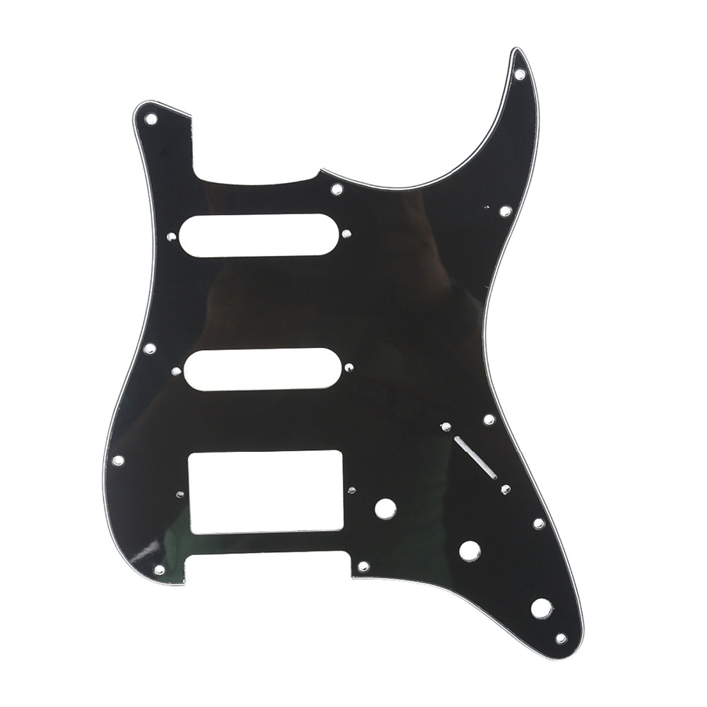 Musiclily 11 Hole Strat Pickguard HSS Guitar Pick Guards Scratch Plate for FD Stratocaster Parts