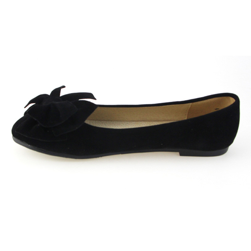 Image 2 - TIMETANG spring summer bow women single shoes flat heel soft bottom ballet work flats shoes woman-in Women's Flats from Shoes