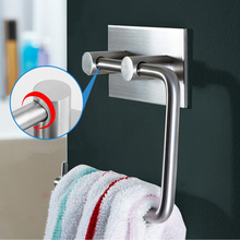 Rustproof Stainless Steel 3M Self-adhesive Toilet Paper Holder Bathroom Kitchen Roll Paper Towel Dispenser Tissue Hanger
