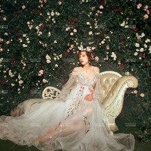 5d3062b8 Sukienka ciążowa sukienka ciążowa sesji zdjęciowej ślubne sukienka odzież  dla ciężarnych kobiet fotografia rekwizyty H196