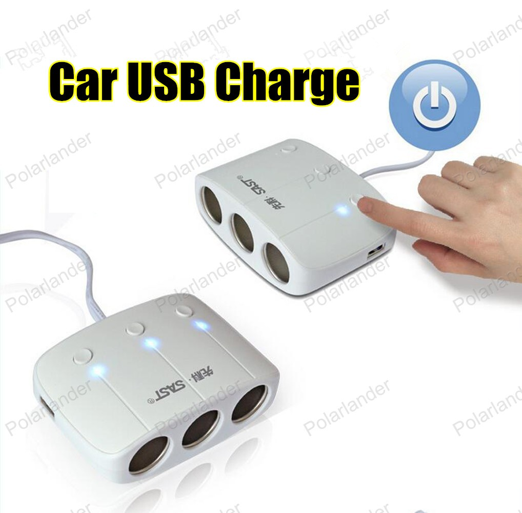 12V 2 Port Mini USB 1.0A 2.1A square Car Charger Auto Dual Port Adapter for mobile phones and digital cameras etc best sale image