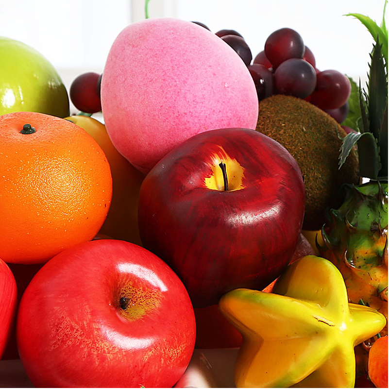 Image 3 - Artificial Apple Fake Fruit  Home Decoration Simulation Orange Ornament Craft Food Photography props Home-in Artificial Fruits from Home & Garden