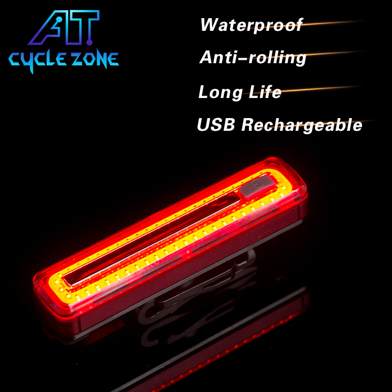 Cycle Zone USB Rechargeable COB Lamp Beads Bicycle Bike Taillight Ultra Bright Safety Warning Cycling Light 8 modes Red Lights 10pcs x red blue zone forklift danger zone warning light 10 80v 18w red safety zone warning led work lamp