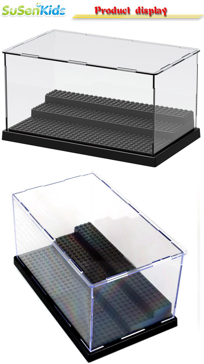 SuSenGo Building Block Display For Star Super Heroes War Acrylic Box Showcase Ladder Cabinets Toys