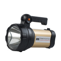 LED searchlight with tail panel lamp rechargeable portable light with USB socket high power 30W flashlight
