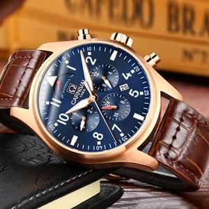 Image 4 - Carnival Brand Luxury Men Watches Japan MIYOTA Automatic Mechanical Man Watch He Gas 150M Waterproof Multifunction Clock C8675 7