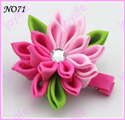 24 шт. 3 ''цветок канзаши заколки значок катушка заколки для волос
